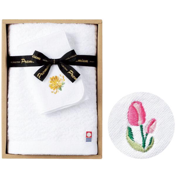 【送料無料】誕生月花入りタオルセットB チューリップ たまひよSHOP・たまひよの内祝い