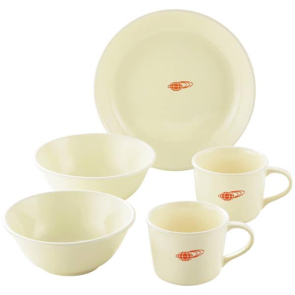 【送料無料】BEAMS 毎日の食器5ピースセット ホワイト たまひよSHOP・たまひよの内祝い
