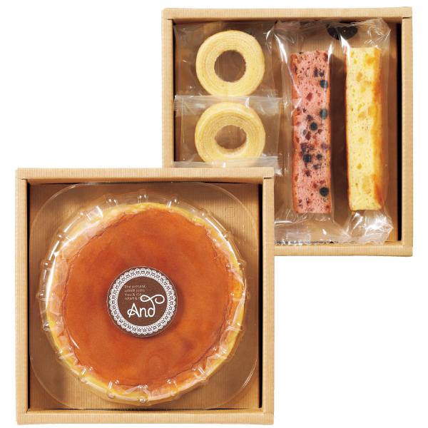 アンド 名入れふわふわチーズケーキセットB たまひよSHOP・たまひよの内祝い