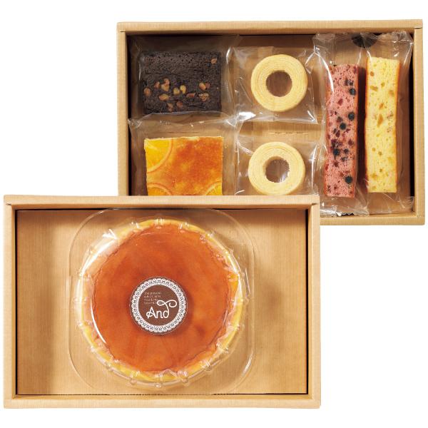 【送料無料】アンド 名入れふわふわチーズケーキセットC たまひよSHOP・たまひよの内祝い