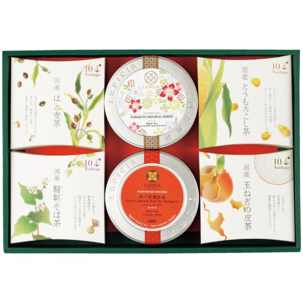 ■内容:健康野菜茶ティーバッグ10個入×4(とうもろこし茶、韃靼そば茶、玉ねぎの皮茶、はと麦茶)、フレーバードティー(たまひよオリジナルフレーバー)×1、国産紅茶(掛川有機紅茶)×1 身体の中から美しく。お茶専門店の健康野菜茶の詰め合わせ。 まず第一に