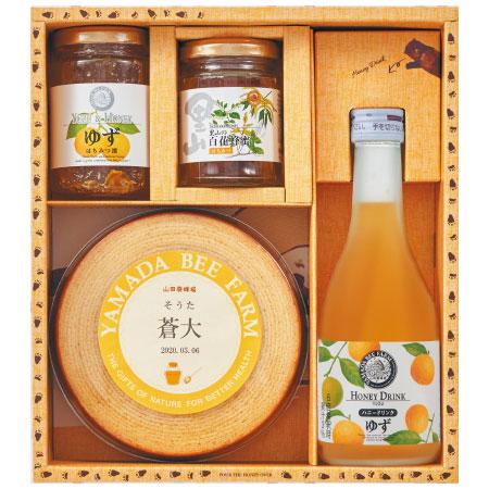 【送料無料】山田養蜂場 名入れはちみつバウム&国産はちみつセットC たまひよSHOP・たまひよの内祝い