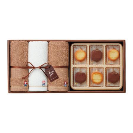 【送料無料】ゴディバ ショコラ&ブランクッキーアソートメント18枚入と今治タオルB たまひよSHOP・たまひよの内祝い