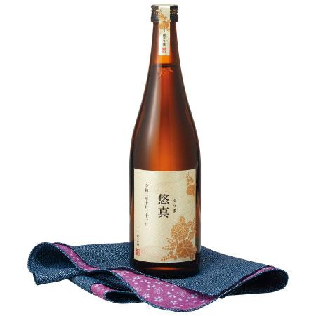 【送料無料】宮下酒造 名入れ桐箱入り 純米吟醸 風呂敷包み 青 たまひよSHOP・たまひよの内祝い