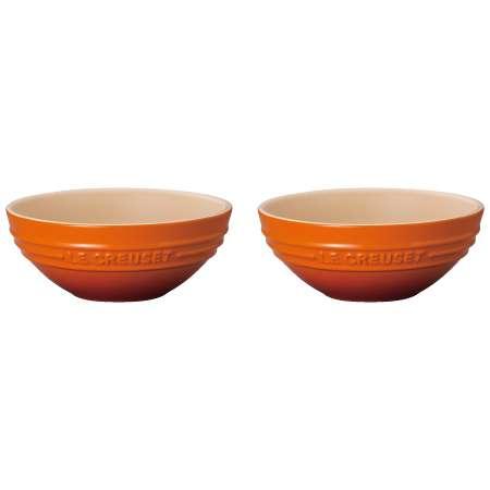 【送料無料】ル・クルーゼ マルチボール15cm(2個入り) オレンジ たまひよSHOP・たまひよの内祝い