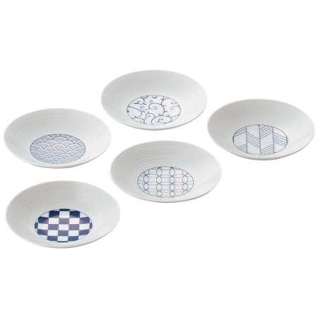 【送料無料】波佐見焼 小皿5枚セット青 たまひよSHOP・たまひよの内祝い