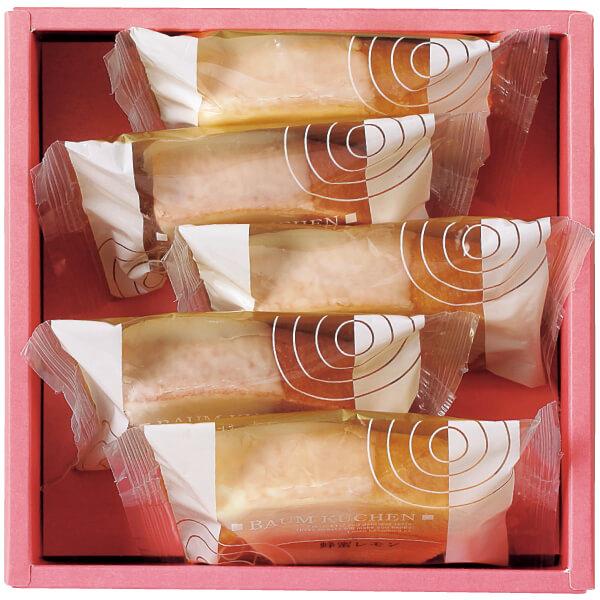 【送料無料】フクフル ホワイトチョコ掛け小分けバウム5個入り(シェフ坂井宏行監修) 名入れカード無し たまひよSHOP・たまひよの内祝い
