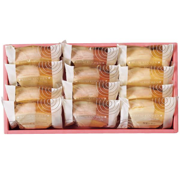 【送料無料】フクフル ホワイトチョコ掛け小分けバウム12個入り(シェフ坂井宏行監修) 名入れカード無し たまひよSHOP・たまひよの内祝い