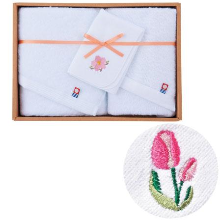 【送料無料】誕生月花入りタオルセットC(チューリップ) たまひよSHOP・たまひよの内祝い