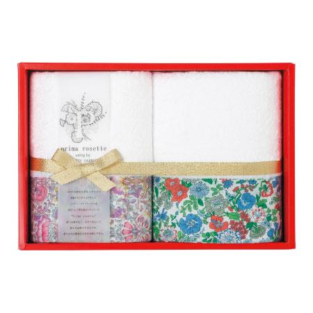 【送料無料】プリマロゼッタ タオルセットA ピンク&グリーン たまひよSHOP・たまひよの内祝い