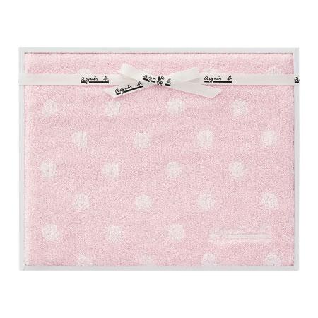 【送料無料】アニエスベー abポワン バスタオル ピンク たまひよSHOP・たまひよの内祝い