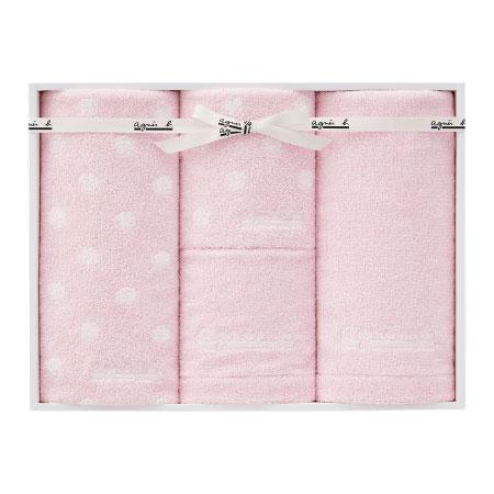 【送料無料】アニエスベー abポワン タオルセットC ピンク たまひよSHOP・たまひよの内祝い