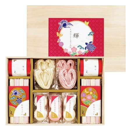 【送料無料】名入れ紅白ハートうどん&まるもちセットB 鶴亀/単品 たまひよSHOP・たまひよの内祝い