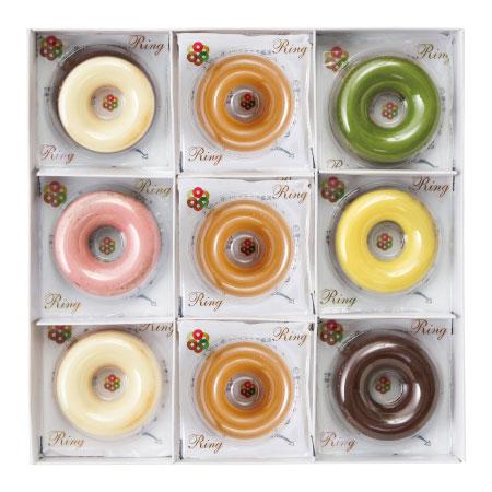 【期間限定】青山リングリング マロン味入焼きドーナツ9個 たまひよSHOP・たまひよの内祝い