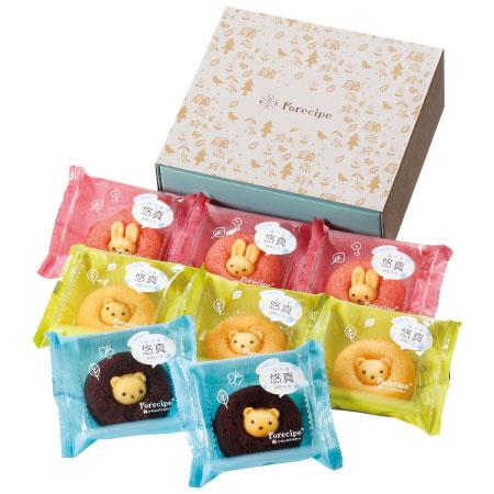 【送料無料】【アツラエ】フォレシピ 名入れ ちいさな森のドーナツ(プレーン味入り) 8個 たまひよSHOP・たまひよの内祝い