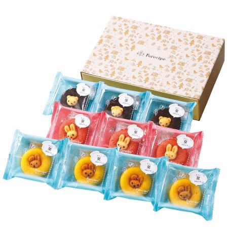 【送料無料】【アツラエ】フォレシピ 名入れ ちいさな森のドーナツ(レモン味入り) 10個 たまひよSHOP・たまひよの内祝い
