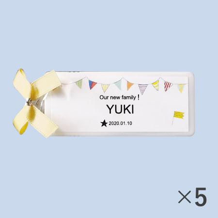 【送料無料】【アツラエ】名入れ(アルファベット) プチプチミント ガーランド 5個 たまひよSHOP・たまひよの内祝い