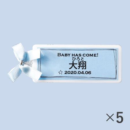 【送料無料】【アツラエ】名入れ(漢字) プチプチミント ブルー 5個 たまひよSHOP・たまひよの内祝い