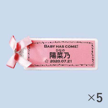 【送料無料】【アツラエ】名入れ(漢字) プチプチミント ピンク 5個 たまひよSHOP・たまひよの内祝い