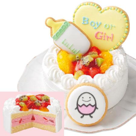 【送料無料】【アツラエ】ホシフルーツ ジェンダーリビールケーキ 女の子 たまひよSHOP・たまひよの内祝い