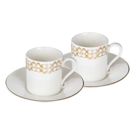【送料無料】【結婚内祝】COACH ペアデミタスカップ&ソーサー たまひよSHOP・たまひよの内祝い
