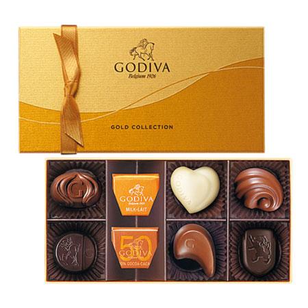 【結婚内祝】ゴディバ ゴールドコレクション8粒入 たまひよSHOP・たまひよの内祝い