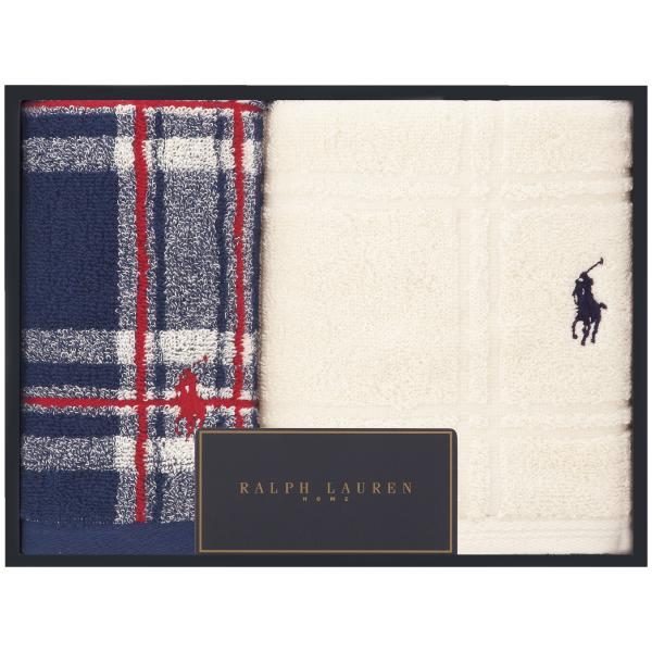 【送料無料】【結婚内祝】ラルフ ローレン トールマッジヒルプラッド タオルセットB ホワイト たまひよSHOP・たまひよの内祝い