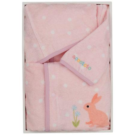 【送料無料】【出産祝い】accototo ベビーローブ 【ピンク】 たまひよSHOP・たまひよの内祝い