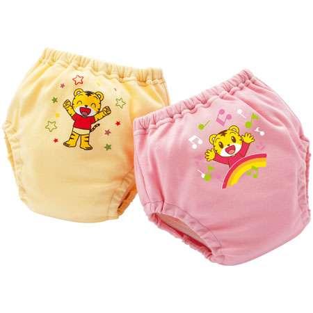 蒸れにくいトレーニングパンツ 消臭抗菌加工付き(2枚入り) ピンク&イエロー たまひよSHOP