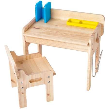 【送料無料】子どもが伸びる収納たっぷりキッズ家具/ デスク&チェア ナチュラル たまひよSHOP