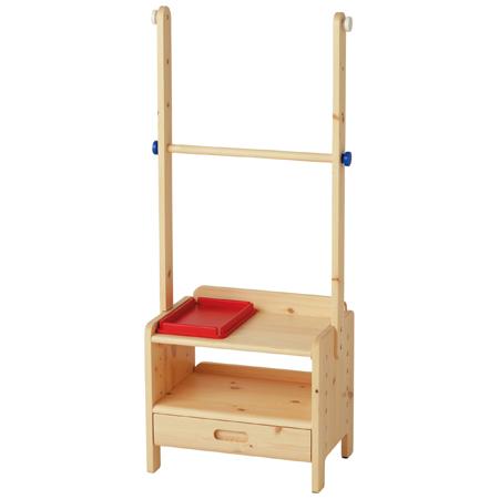 【送料無料】子どもが伸びる収納たっぷりキッズ家具/ ハンガーラック ナチュラル たまひよSHOP