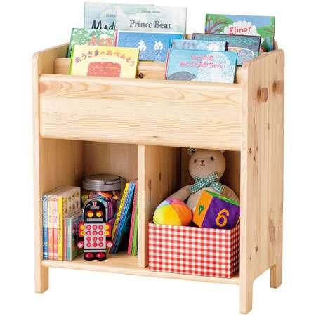 【送料無料】子どもが伸びる収納たっぷりキッズ家具/ ブックシェルフ ナチュラル たまひよSHOP