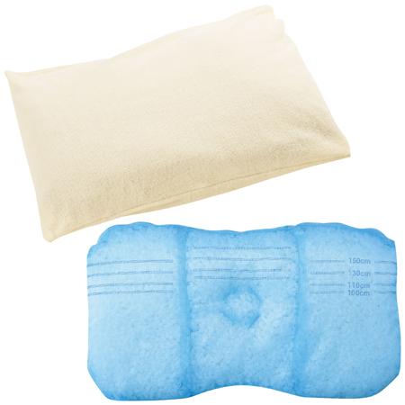 やさしく頭をささえる100cmからの成長枕とふんわりピローケースのセット たまひよSHOP