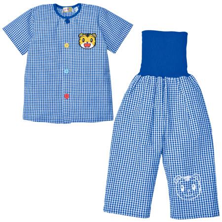しまじろう 腹巻付き半袖おけいこパジャマ ブルー たまひよSHOP