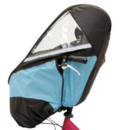 【送料無料】自転車チャイルドシート レインカバー フロント用/ブラウンライトブルー たまひよSHOP