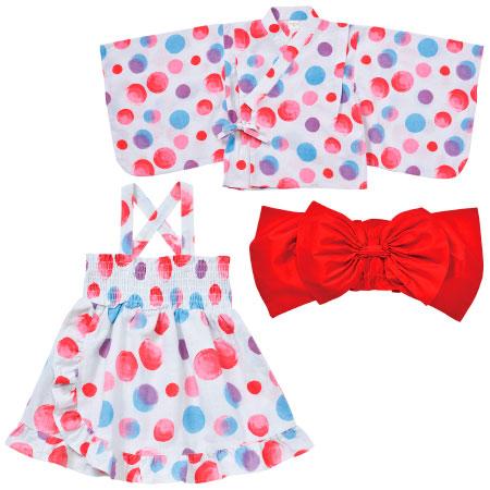 キッズ浴衣風3点セット ピンク たまひよSHOP