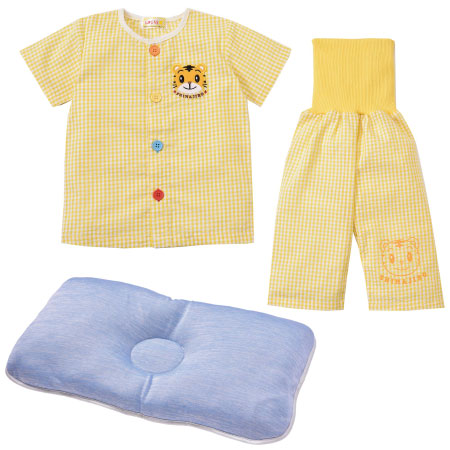 【送料無料】夏のパジャマ2点セット(おけいこパジャマ&クール枕) イエロー たまひよSHOP