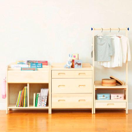【送料無料】子どもが伸びる収納シリーズ 天然木製家具セット 3点セット たまひよSHOP