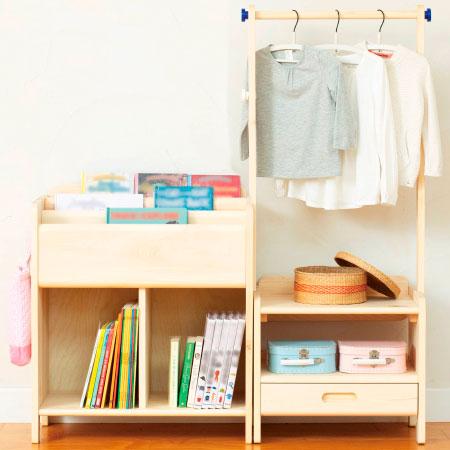 【送料無料】子どもが伸びる収納シリーズ 天然木製家具セット 2点セット たまひよSHOP