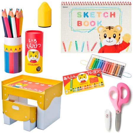 【送料無料】お絵描きや工作が大好きに!文具&段ボール製デスク&チェア セット はさみ(ピンク右利き用) たまひよSHOP
