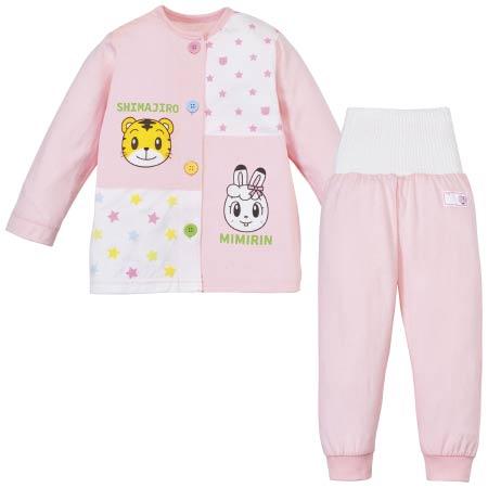 しまじろうの腹巻付き おけいこパジャマ 長袖 ピンク たまひよSHOP