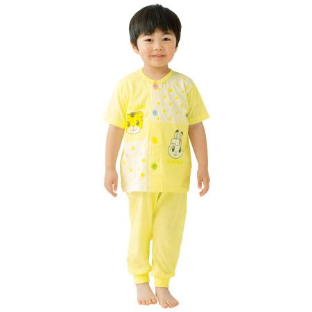 しまじろうの腹巻付き おけいこパジャマ 半袖 クリームイエロー たまひよSHOP